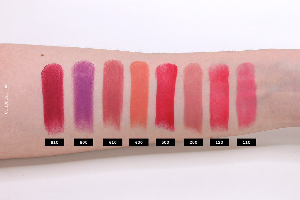 Image of Rimmel the only one matte lipstick Swatch on arm/hand