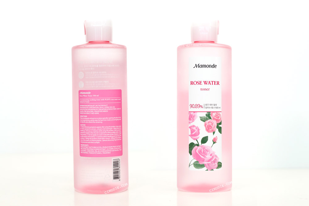 Image of Mamonde Rose Water Toner Front & Back