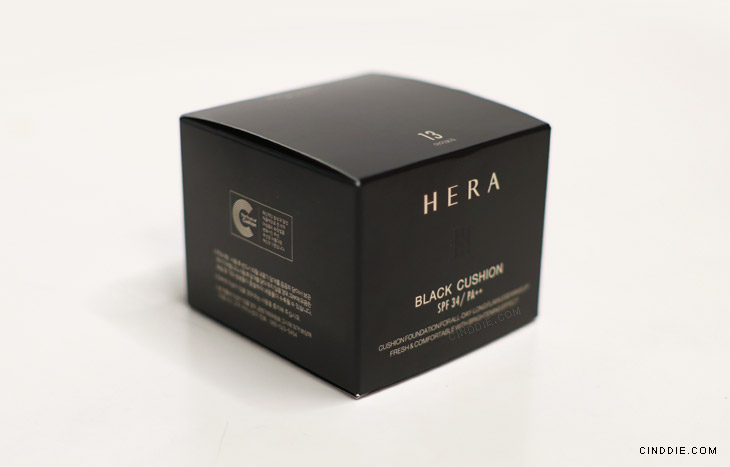 Image of Hera Black Cushion Review - Box