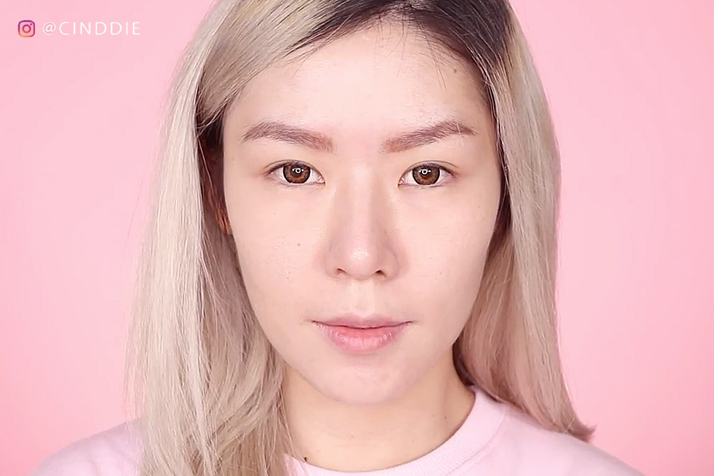 After application of 3CE Face Tuning Concealer Palette