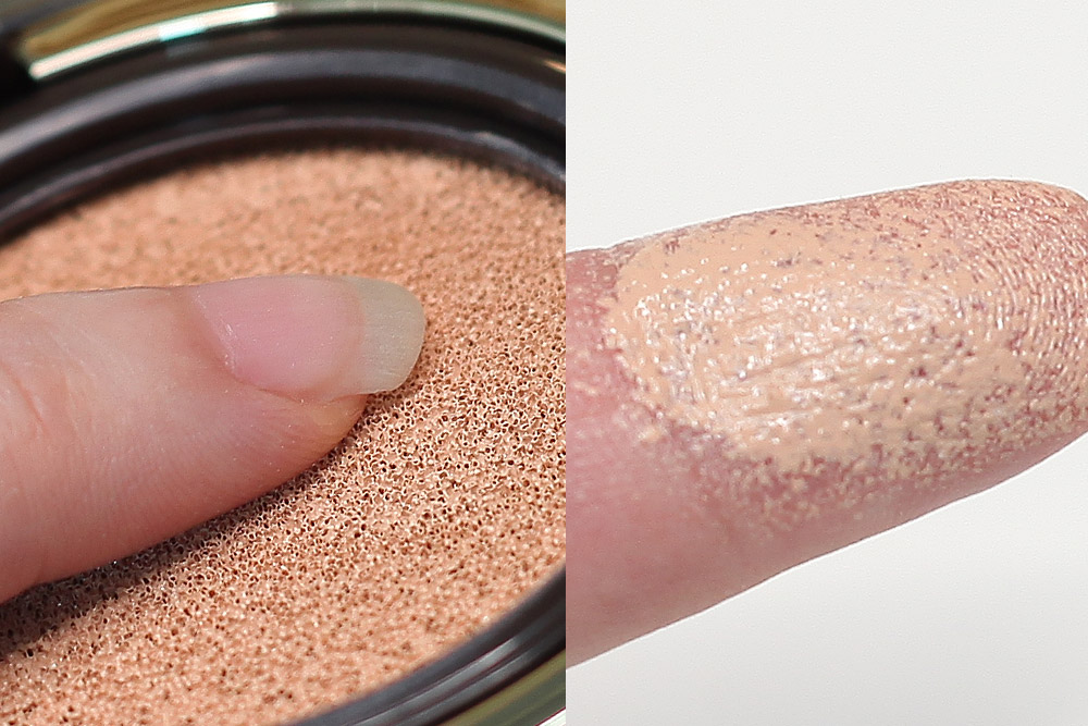 Sulhwasoo Perfecting Cushion Intense after application on finger