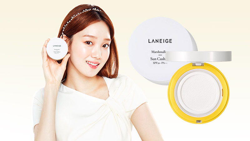 Image of Laneige Sun Care Line - marshmellow sun cushion