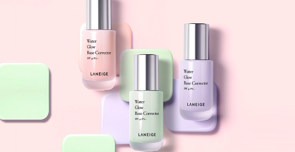 Image of all 3 Laneige Water Glow base Corrector