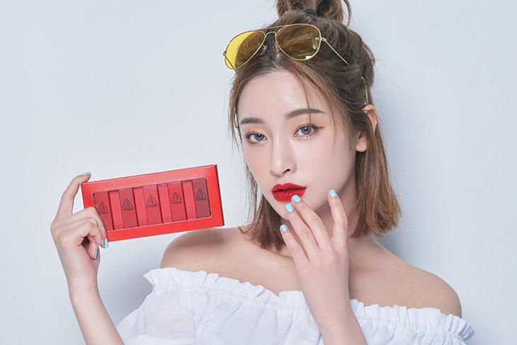 Image of 3ce Red Recipe lip color Mini kit