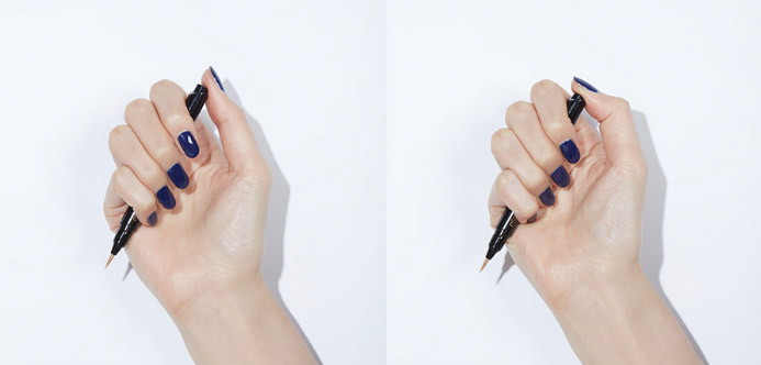 Image of how to use Espoir Pro Definition Colormatic Eye Liner