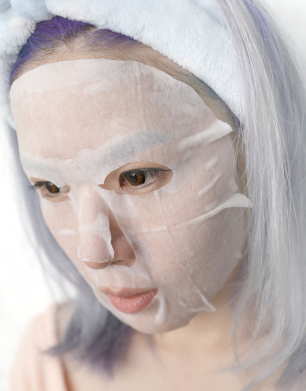 Image of Lululun Face Mask on my face