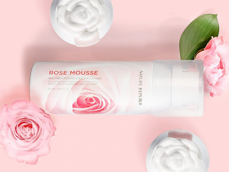 Image of Nature Republic Real Fresh Rose Mousse Foam Cleanser