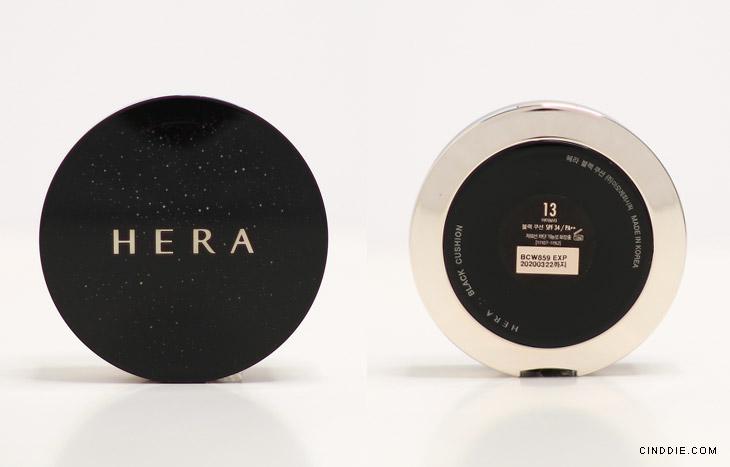 Image of Hera Black Cushion Review - Cushion case front & back